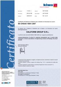 DaliformGroup - OHSAS18001